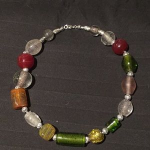 Jewelry - Multi colored glass handcrafted necklace.